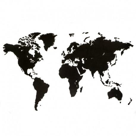 Карта-пазл wall decoration, 180х108 см, черная