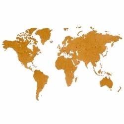 Карта мира wall decoration 180х108cm Коричневая