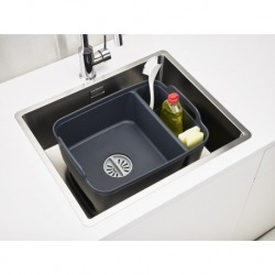 Контейнер для мытья посуды wash&drain™ тёмно-серый, Joseph Joseph