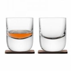 Набор из 2 стаканов Renfrew Whisky с деревянными подставками 270 мл, LSA