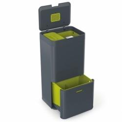 Контейнер для сортировки мусора totem 60 л графит, Joseph Joseph