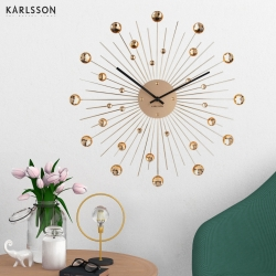 Настенные часы Karlsson Sunburst Large crystal gold