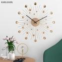 Настенные часы Karlsson Sunburst Large crystal gold