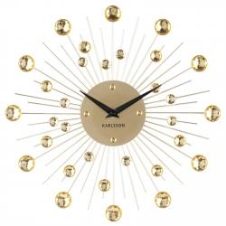 Настенные часы Karlsson Sunburst crystal gold