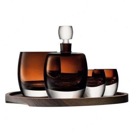 Набор для ценителей виски с деревянным подносом Whisky Club