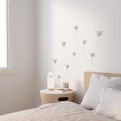 Декор для стен Bloomer 9 элементов белый, Umbra