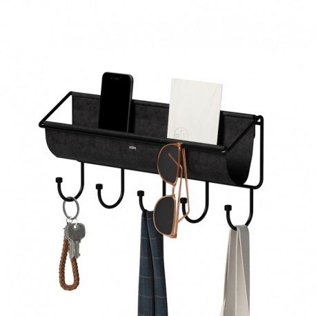 Полка-органайзер Hammock черная, Umbra