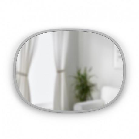 Зеркало овальное Hub 45 х 60 см серое, Umbra