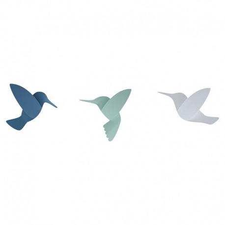 Декор для стен Hummingbird 9 элементов разноцветный, Umbra