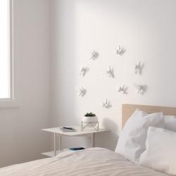 Декор для стен Hummingbird 9 элементов белый, Umbra