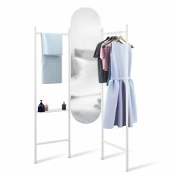 Зеркало напольное с вешалками vala белое, Umbra