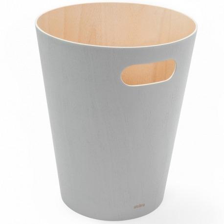 Корзина для мусора Woodrow серая, Umbra