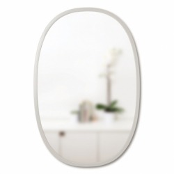Зеркало овальное Hub 61 х 91 см серое, Umbra