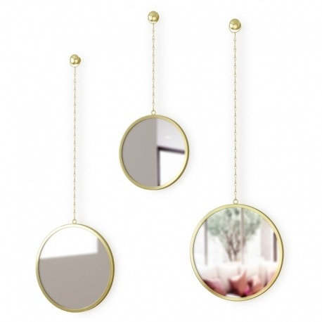 Зеркала декоративные Dima круглые латунь, Umbra