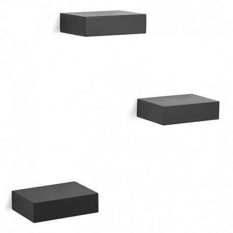 Набор из 3 полок Showcase черный, Umbra