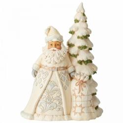 Статуэтка Секреты снегопада (Белый лесной Санта)