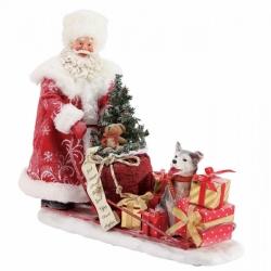 Статуэтка Санта дарит подарки по всему миру