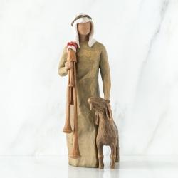 Статуэтка Willow Tree Пастух с ягнёнком (Zampognaro Shepherd)
