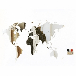 Карта-пазл зеркальная Wall Decoration Exclusive 130х78 см, Mimi
