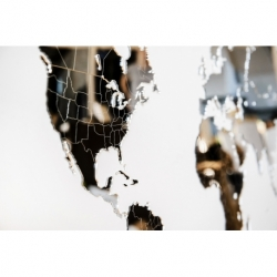 Карта-пазл зеркальная wall decoration exclusive 90х54 см, Mimi