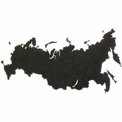 Карта-пазл Wall Decoration Российская Федерация, 98х53 см, черная