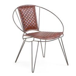 Кресло Tukko кожаное коричневое CC0348P10, La Forma (ex Julia Grup)