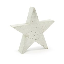 Фигурка Звезды 31x30 цемент белый, La Forma (ex Julia Grup)