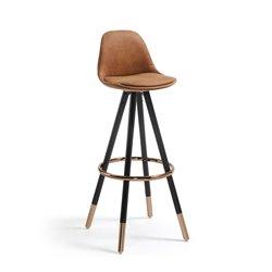 Барный стул Stag коричневое сидение, La Forma (ex Julia Grup)