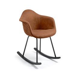 Кресло-качалка Kenna коричневое, La Forma (ex. Julia Grup)