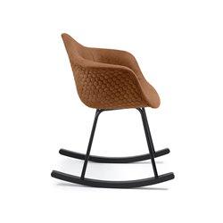 Кресло-качалка Kenna коричневое, La Forma (ex Julia Grup)