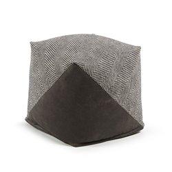 Пуф SPAIG черный, тканевая комбинация, La Forma (ex Julia Grup)