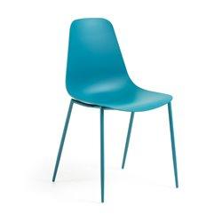 Стул WASSU металлический синий пластиковый синий CC0502S26, La Forma (ex. Julia Grup)