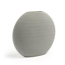 Ваза LOANA керамическая светло-серая, La Forma (ex. Julia Grup)