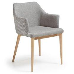 Кресло Danai серое тканевое, La Forma (ex. Julia Grup)
