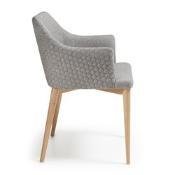 Кресло Danai серое тканевое, La Forma (ex Julia Grup)