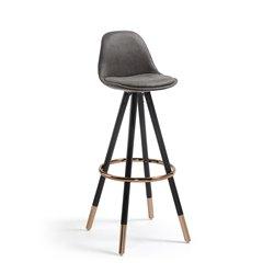 Барный стул Stag черное сидение, La Forma (ex Julia Grup)