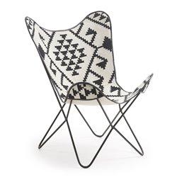 Кресло Flynn ткань черно-белая CC0352J60, La Forma (ex. Julia Grup)