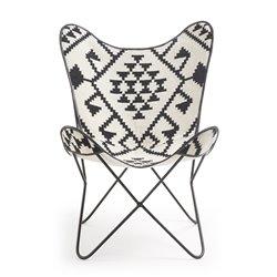 Кресло Flynn ткань черно-белая CC0352J60, La Forma (ex Julia Grup)