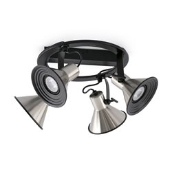 Плафон CUP-4 никель матовый 4 X GU10 LED 8W, Faro