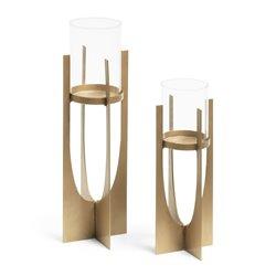 Набор из 2 держателей для свечей AUCLAND металлическое золото AA2559R83, La Forma (ex. Julia Grup)