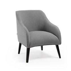 Кресло Lobby ткань светло-серая, La Forma (ex Julia Grup)