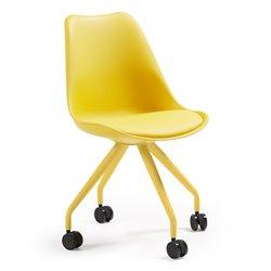 Кресло на колесиках Lars желтое, La Forma (ex. Julia Grup)