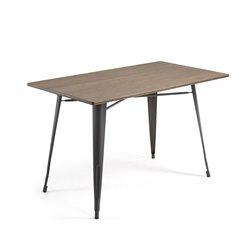 Стол Malibu прямоугольный с черными ножками, La Forma (ex. Julia Grup)