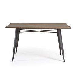 Стол Malibu прямоугольный с черными ножками, La Forma (ex Julia Grup)