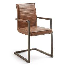Кресло Type с металлическим покрытием PU оксидный коричневый CC0331UE86, La Forma (ex. Julia Grup)
