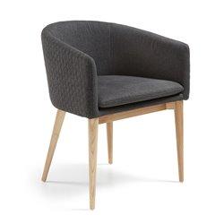 HARMON Кресло из натурального дерева стеганое темно-серое CC0078JQ15, La Forma (ex Julia Grup)