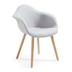 Кресло Kenna светло-серое, La Forma (ex Julia Grup)