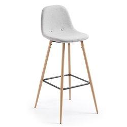 Барный стул Nilson светло-серый, La Forma (ex Julia Grup)