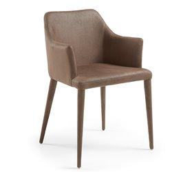 Кресло Danai коричневое кожаное, La Forma (ex Julia Grup)
