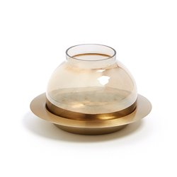 Подсвечник Crayte стеклянный золото, La Forma (ex Julia Grup)
